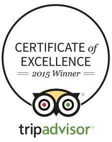 TripAdvisor – Certificate of Excellence 2015